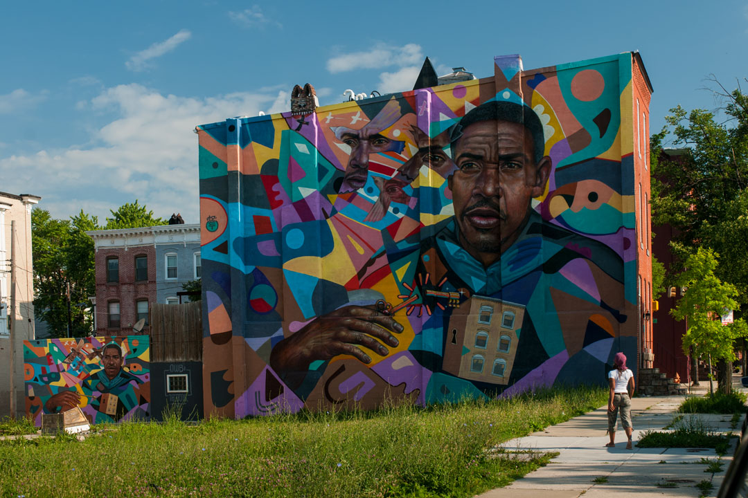 El Decertor's mural for Open Walls Baltimore 2014
