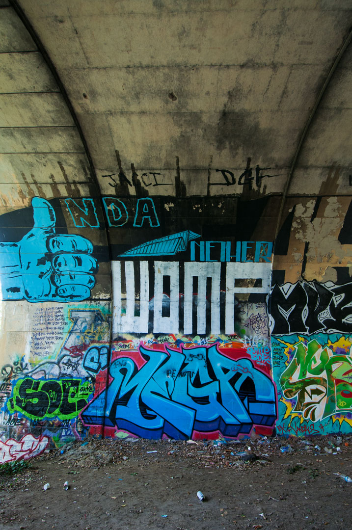 NDA, Nether, Womp & Mega - beneath the road in Hampden