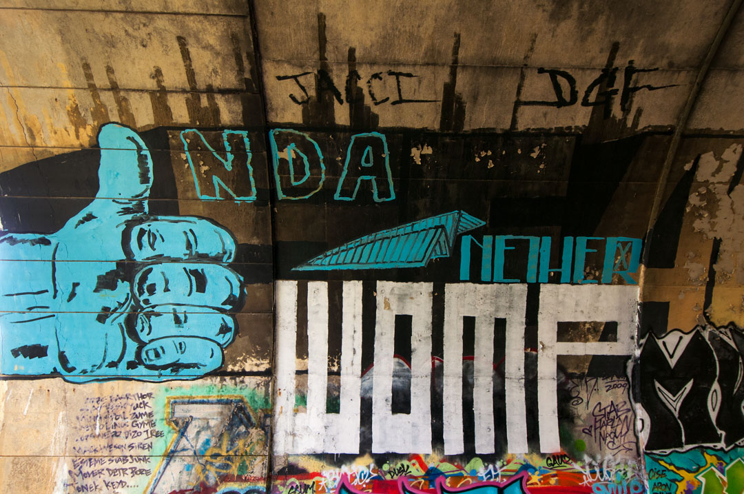 NDA, Nether & Womp - beneath the road in Hampden