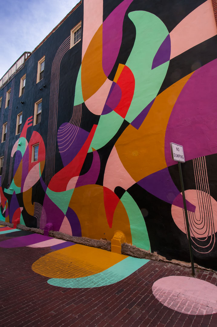 Katey & Jessie's mural for Open Walls Baltimore 2014