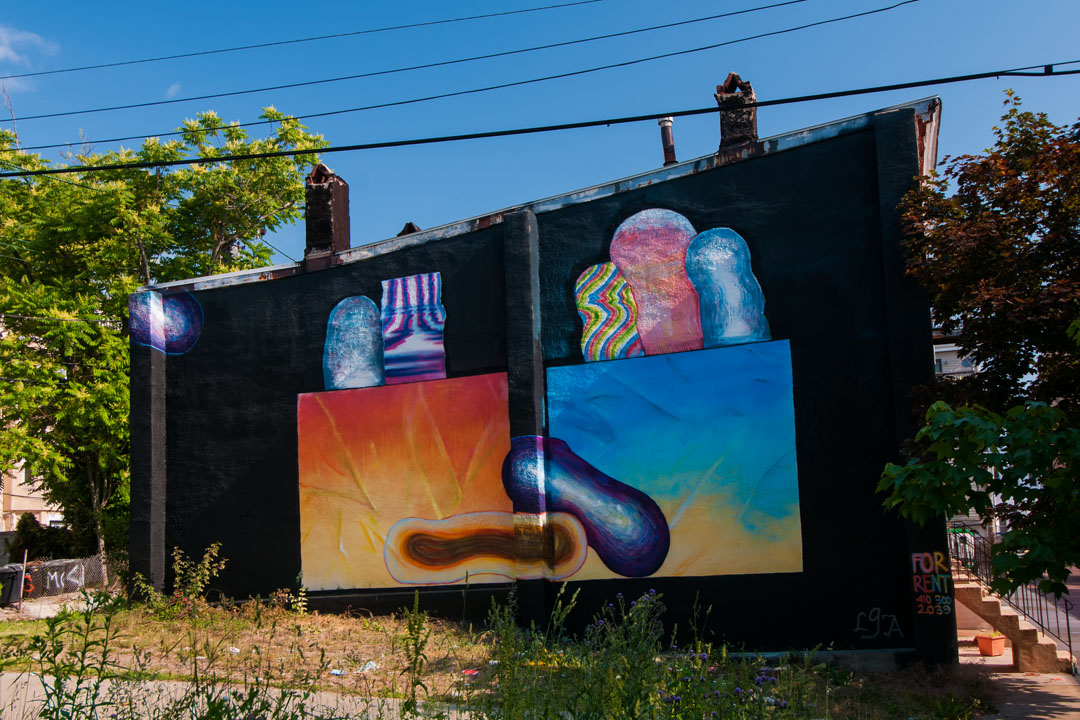 Lesser Gonzalez Alvarez created this mural for Open Walls Baltim