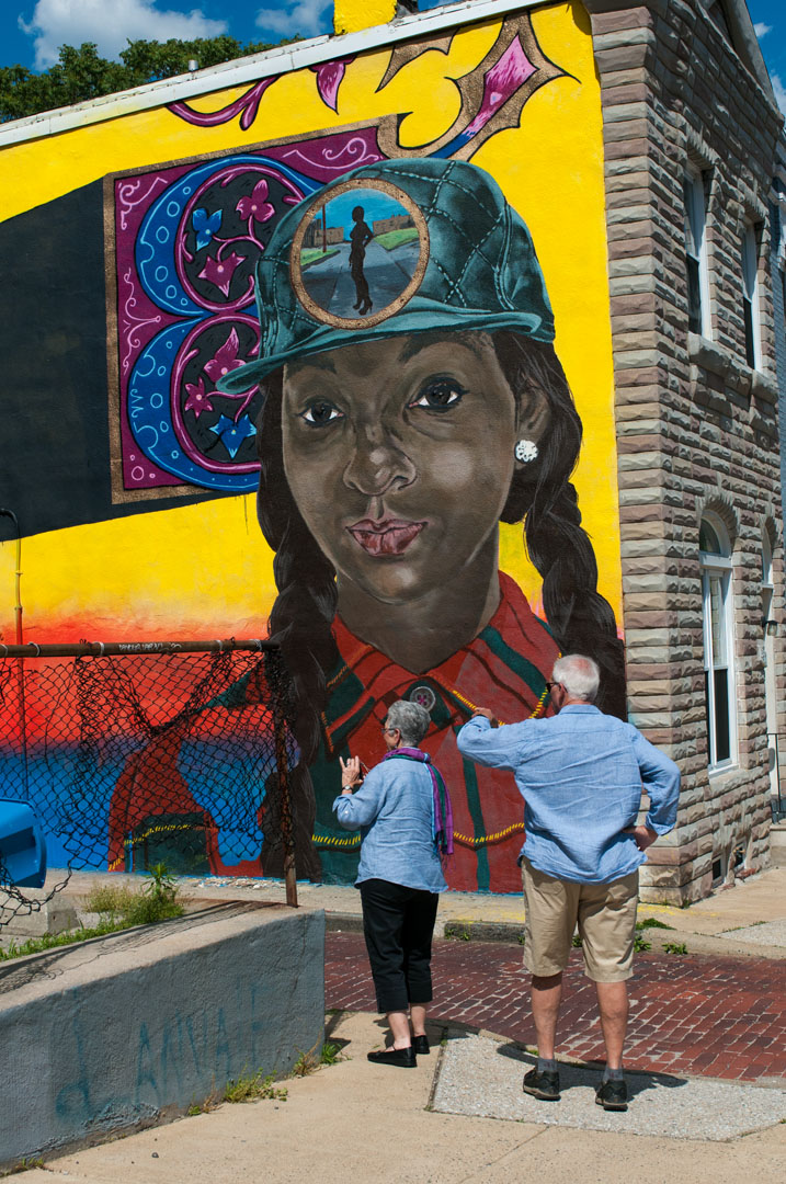 Seeing the sights - LNY's mural for Open Walls Baltimore 2014