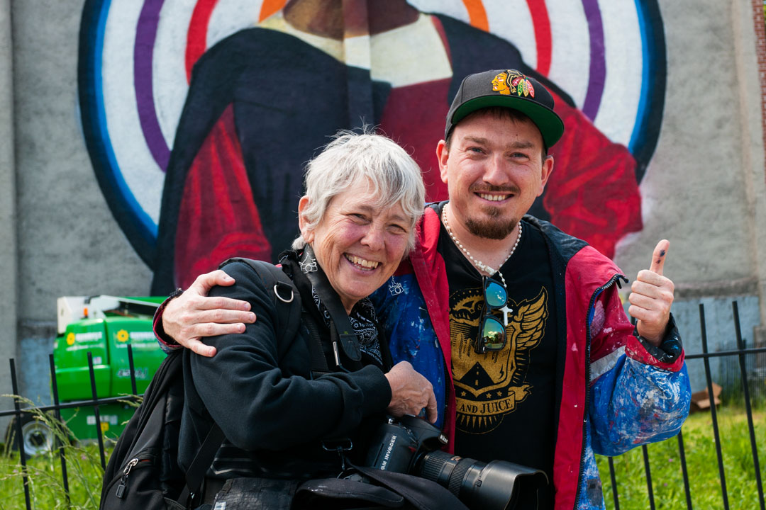 Ozmo and Martha Cooper at Open Walls Baltimore 2014
