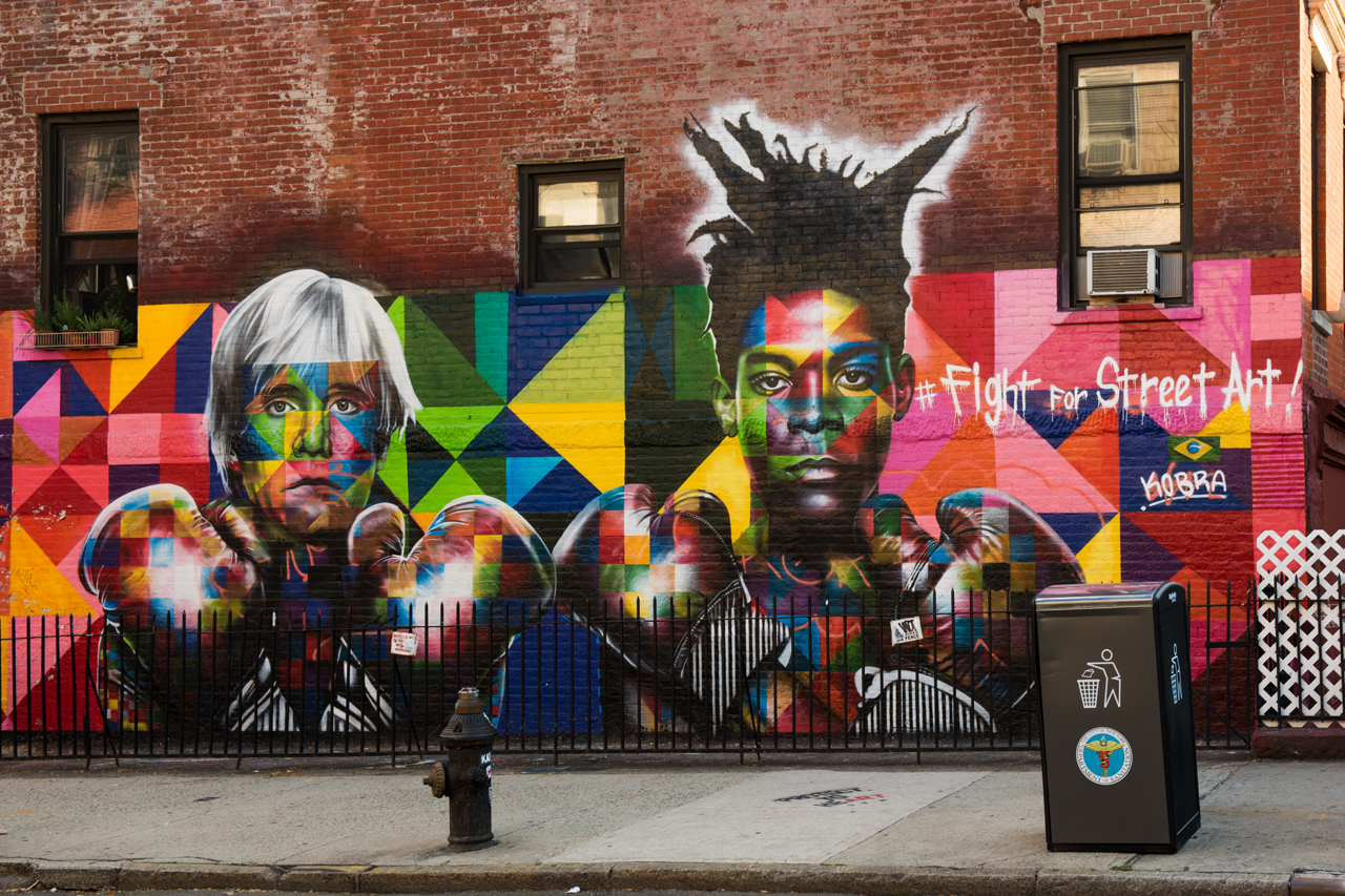 Andy Warhol and Jean-Michel Basquiat fight for street art ... Kobra