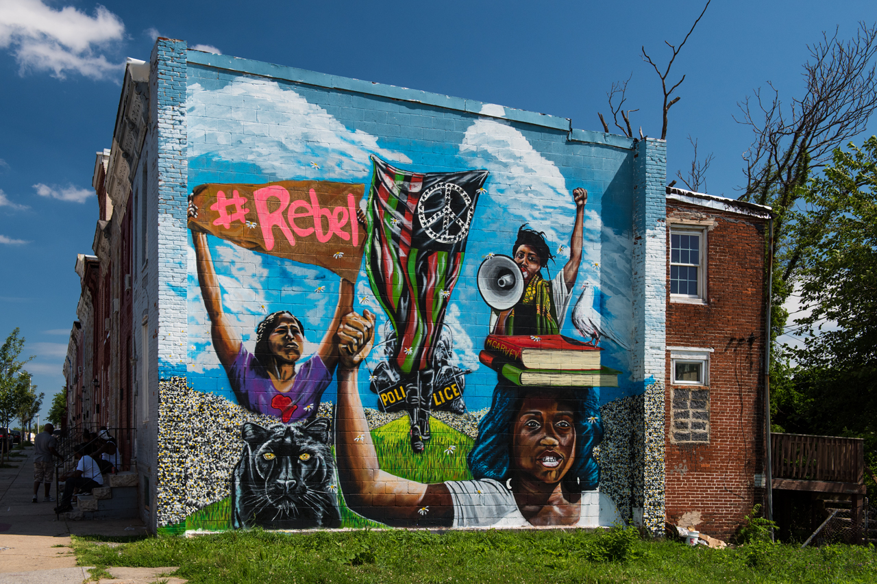 #Rebel by Pablo Machioli ... Visions: Sandtown Mural & Arts Project