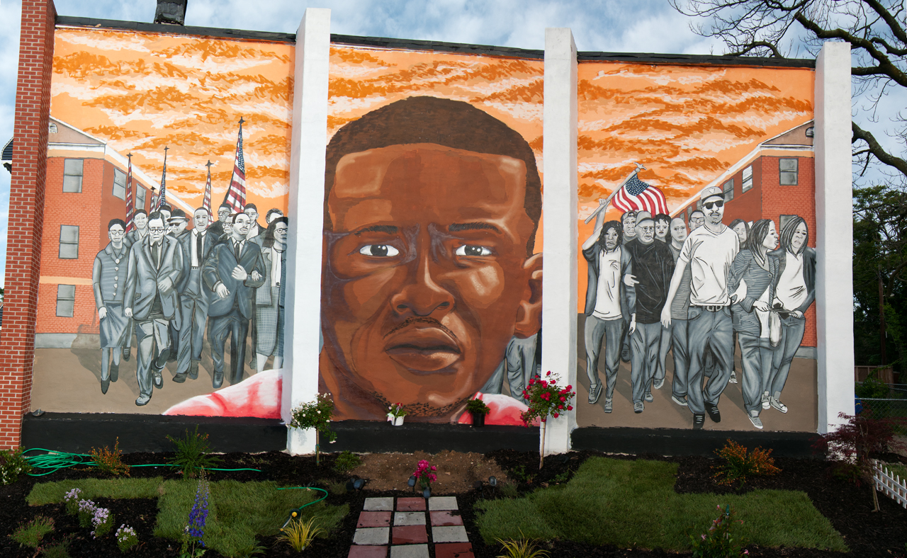 Freddie Gray triptych by Nether ... Visions: Sandtown Mural & Arts Project