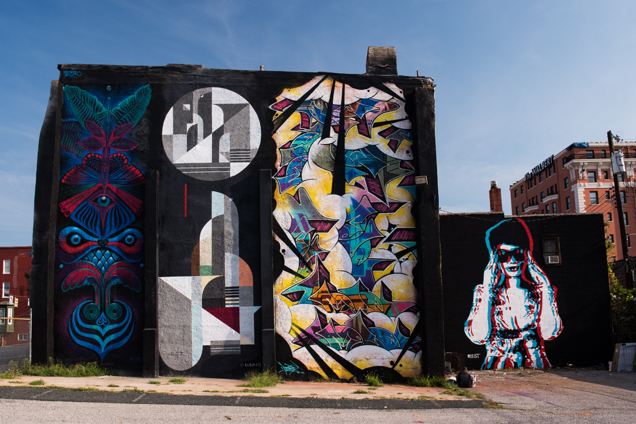 Headlining today's post ... murals by Werc, Rubin 415, Billy Mode & Richard Best for Section 1 Art Park