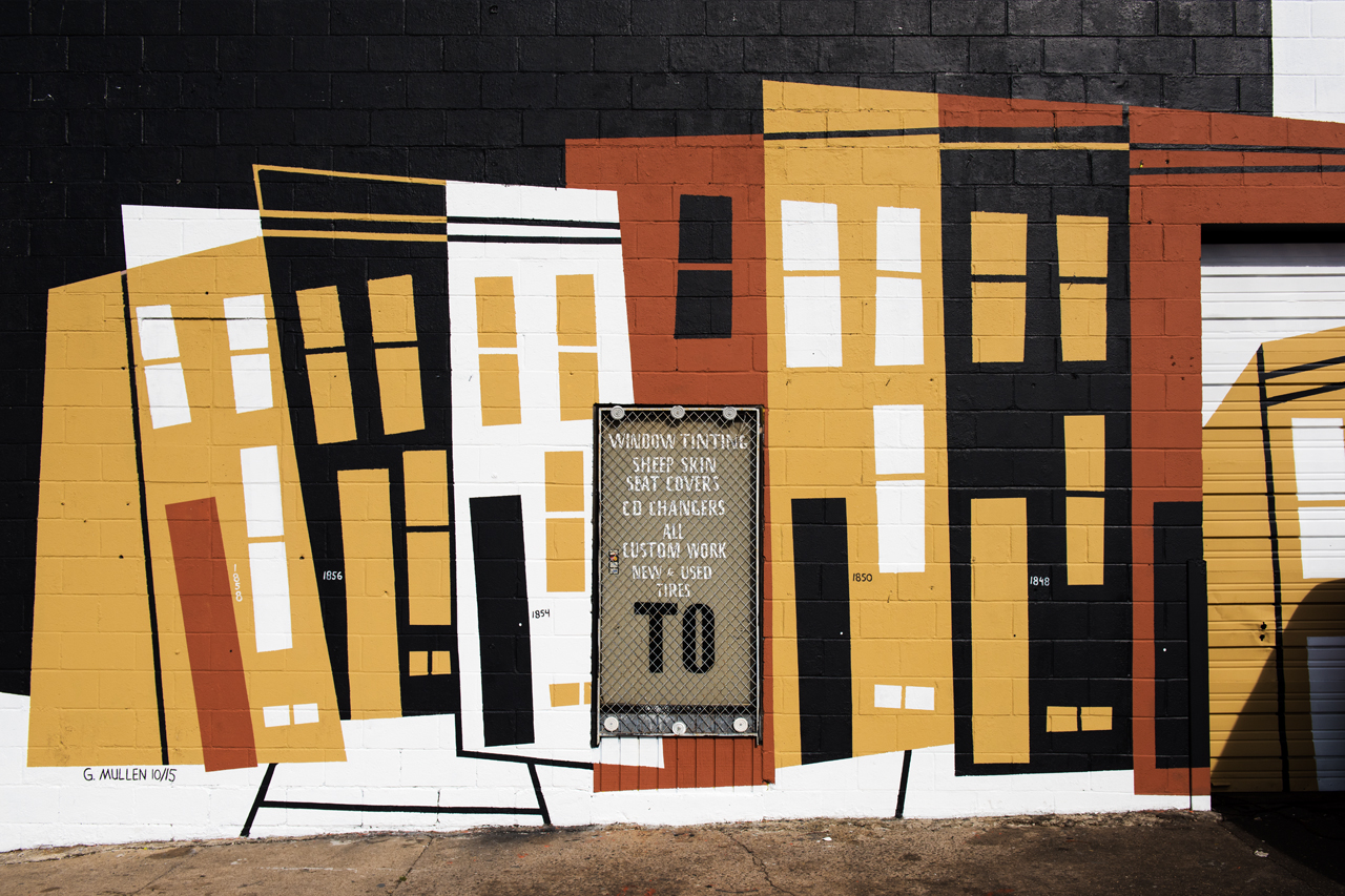 Rowhouses by Gary Mullen ... Eubie Blake: Sandtown Mural Project