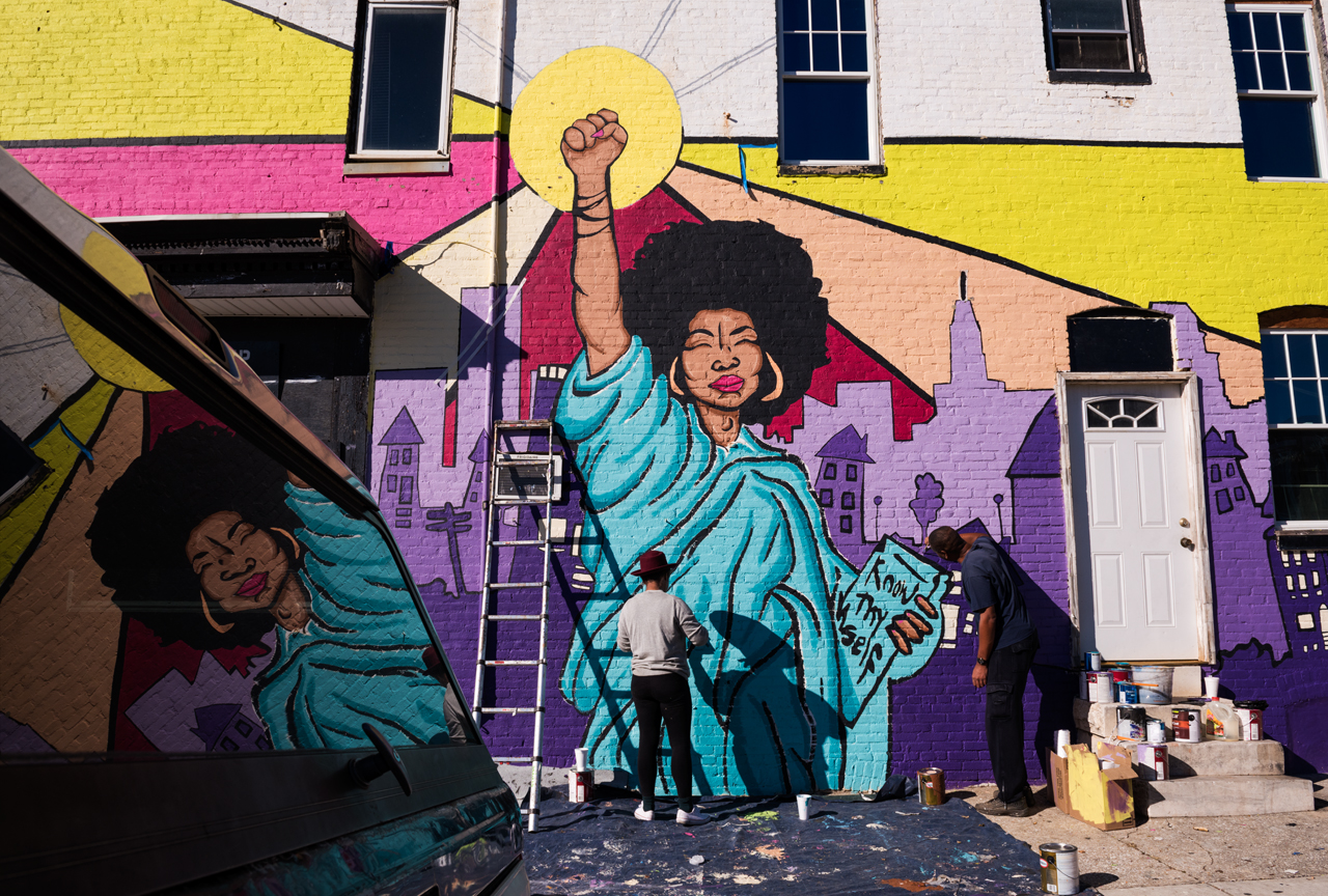 Lady Liberty - Know Thyself by Megan Lewis ... Eubie Blake: Sandtown Mural Project