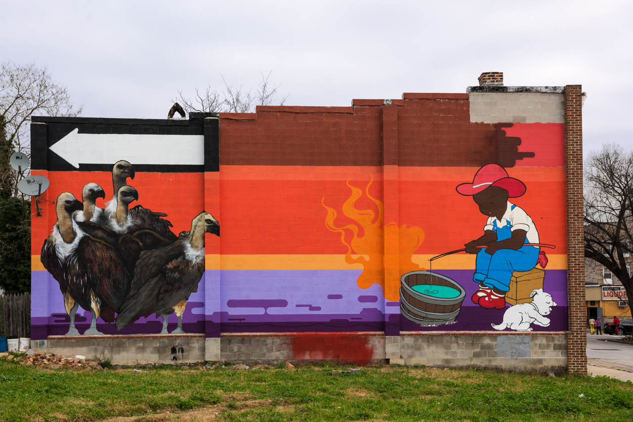 Adam Stab for the Eubie Blake: Sandtown Mural Project
