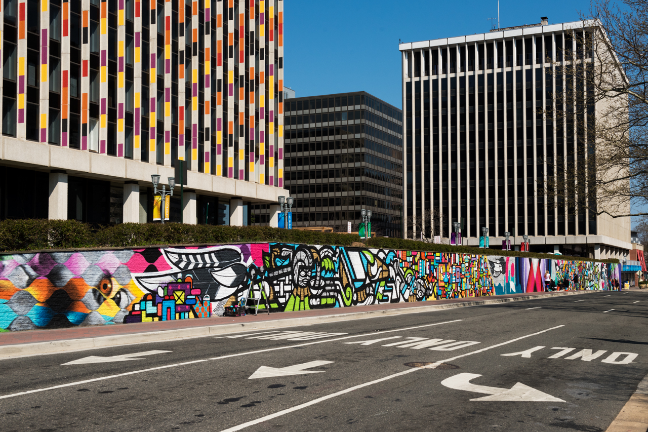 23rd Street mural - from the west side