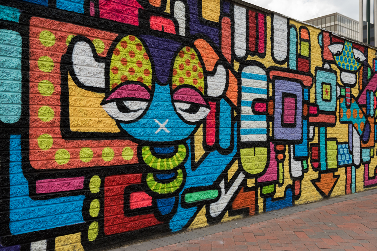 Part of the mural by Juan Pineda