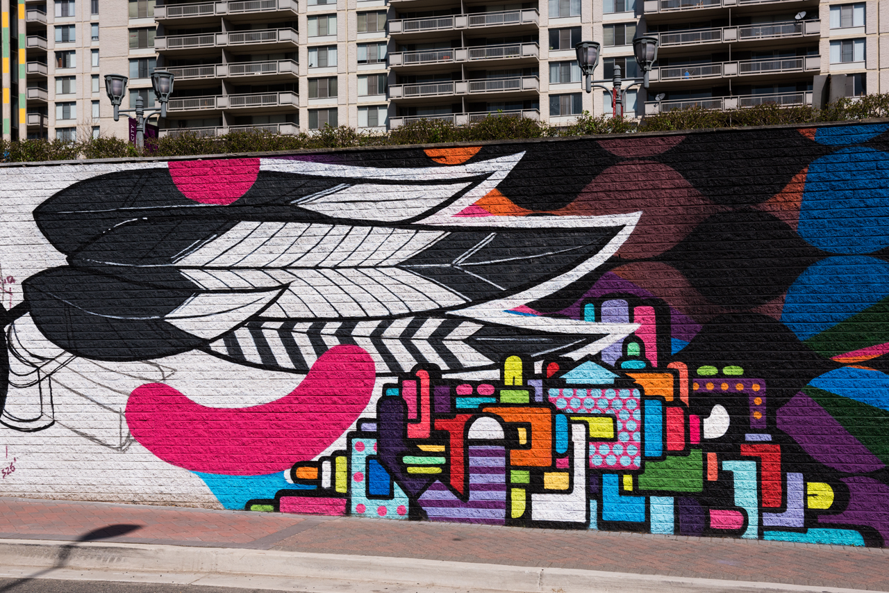 Miss Chelove & Juan Pineda - the east end of the 23rd Street mural is almost complete
