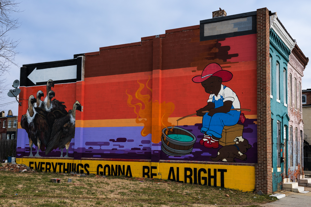 Everything's gonna be alright ... mural by Adam Stab