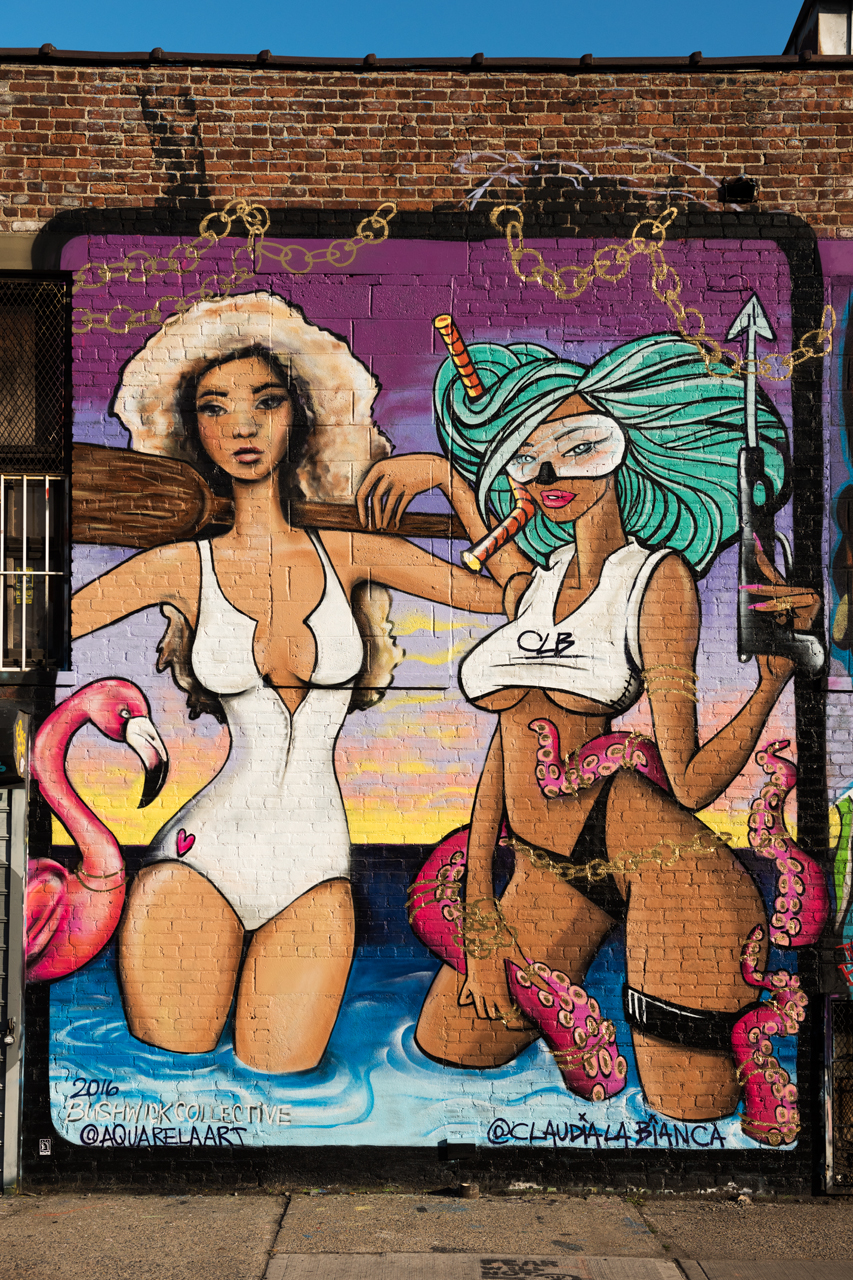 Collab by Aquarela & Claudia La Bianca for the Bushwick Collective