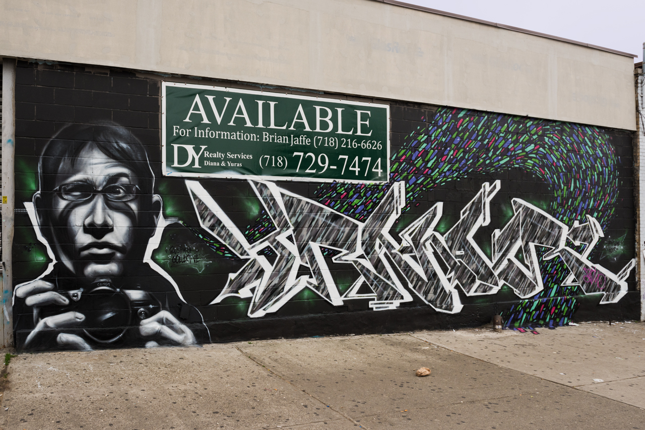 Collab by Trans One & Noir for the Bushwick Collective