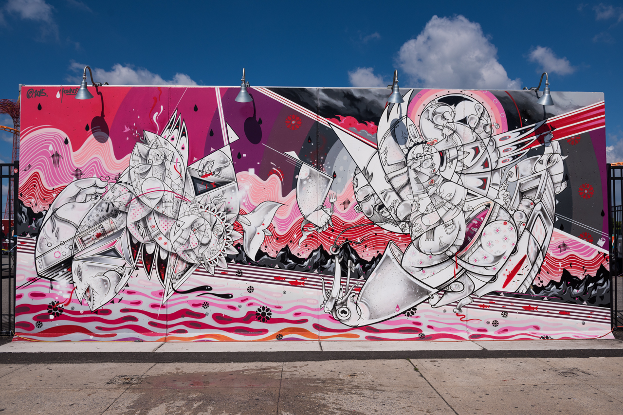 How & Nosm for Coney Art Walls 2015