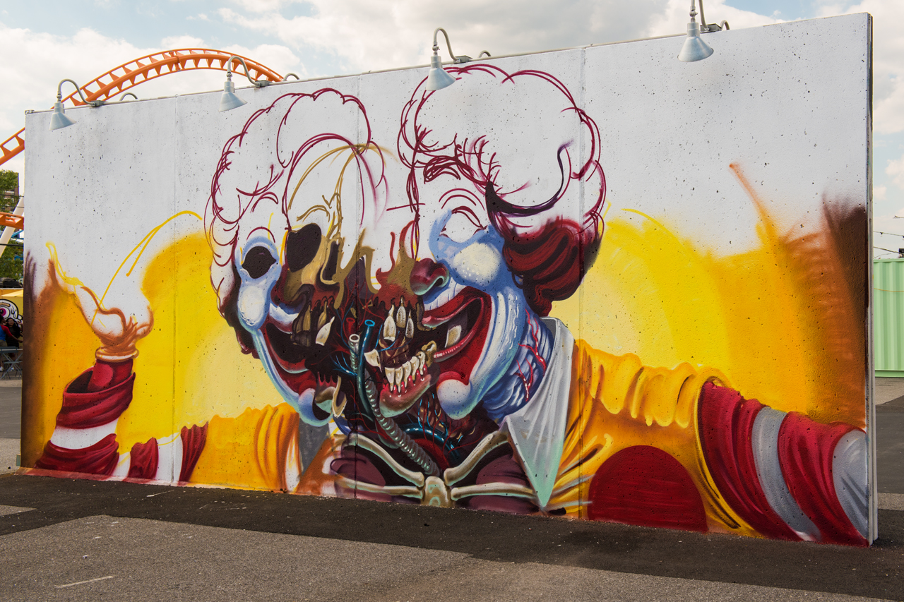 Ronald McDonald - Nychos for Coney Art Walls 2016
