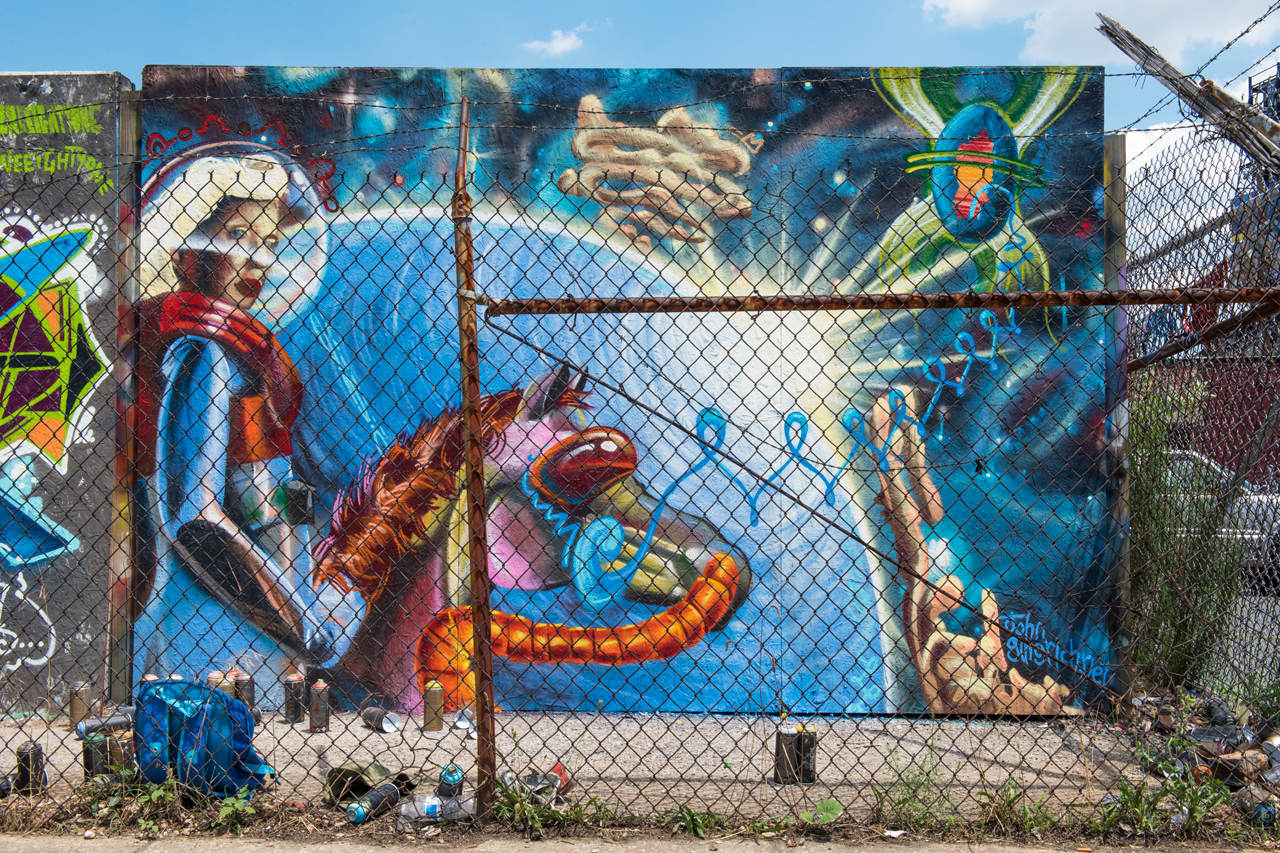 Space mantis by John Gingrich for Section 1 - Artscape 2016