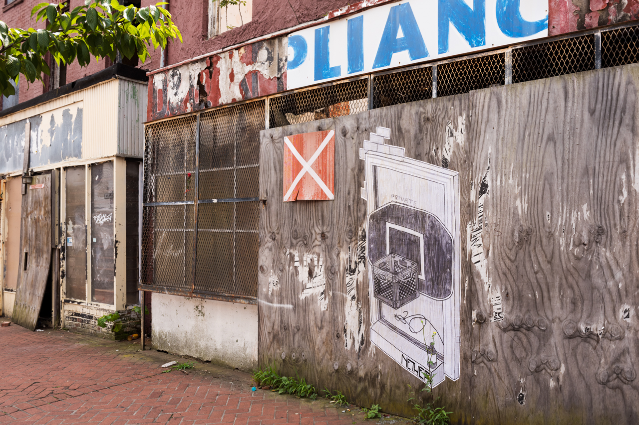 Basketball hoop - wheatpaste by Nether