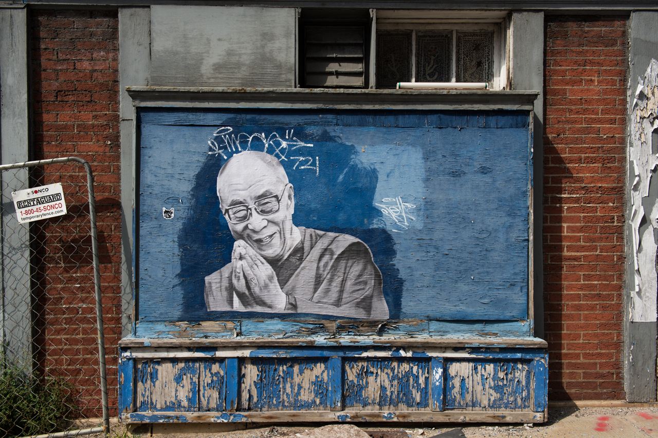Headlining today's post ... His Holiness the 14th Dalai Lama - wheatpaste by Sorta