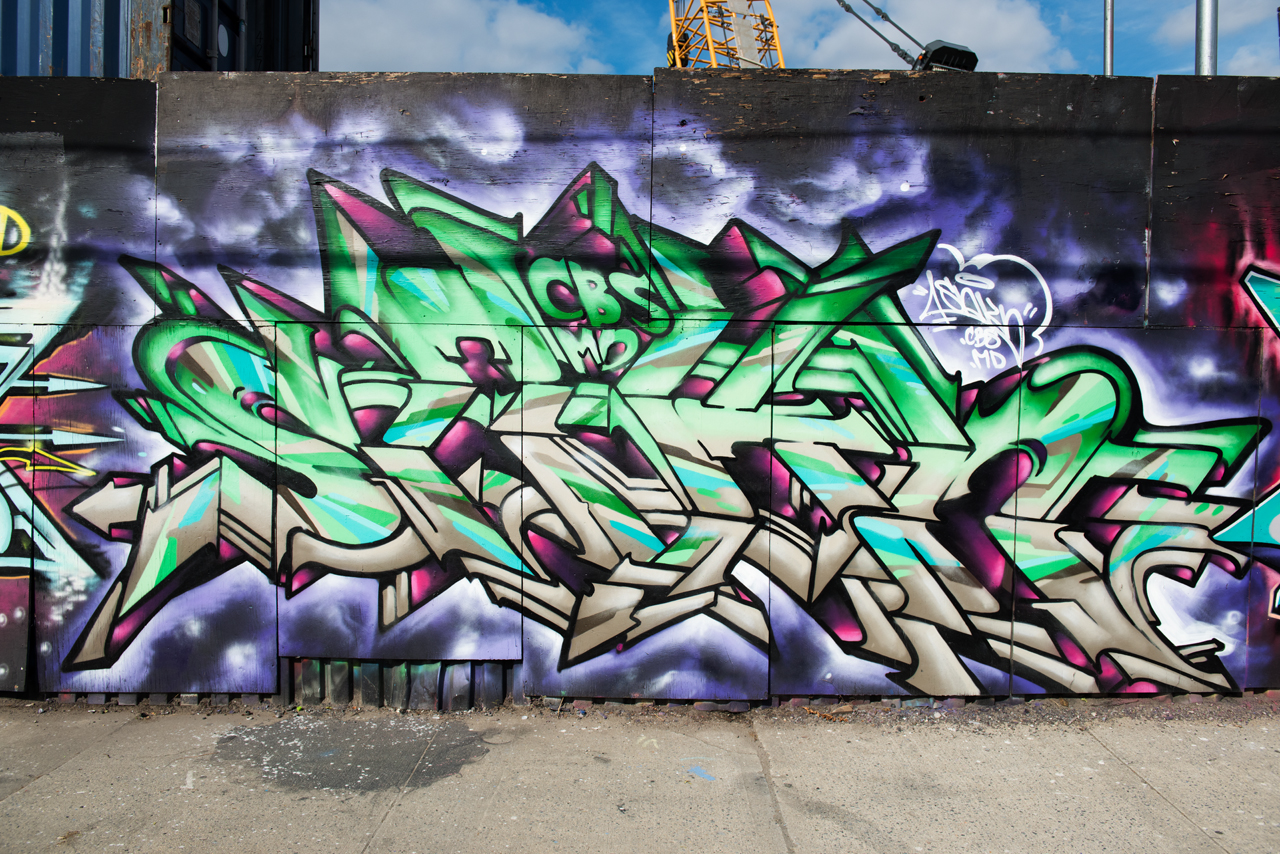 Sakn - wall with Kryme, Meres, Shyne, Tiper and Veer