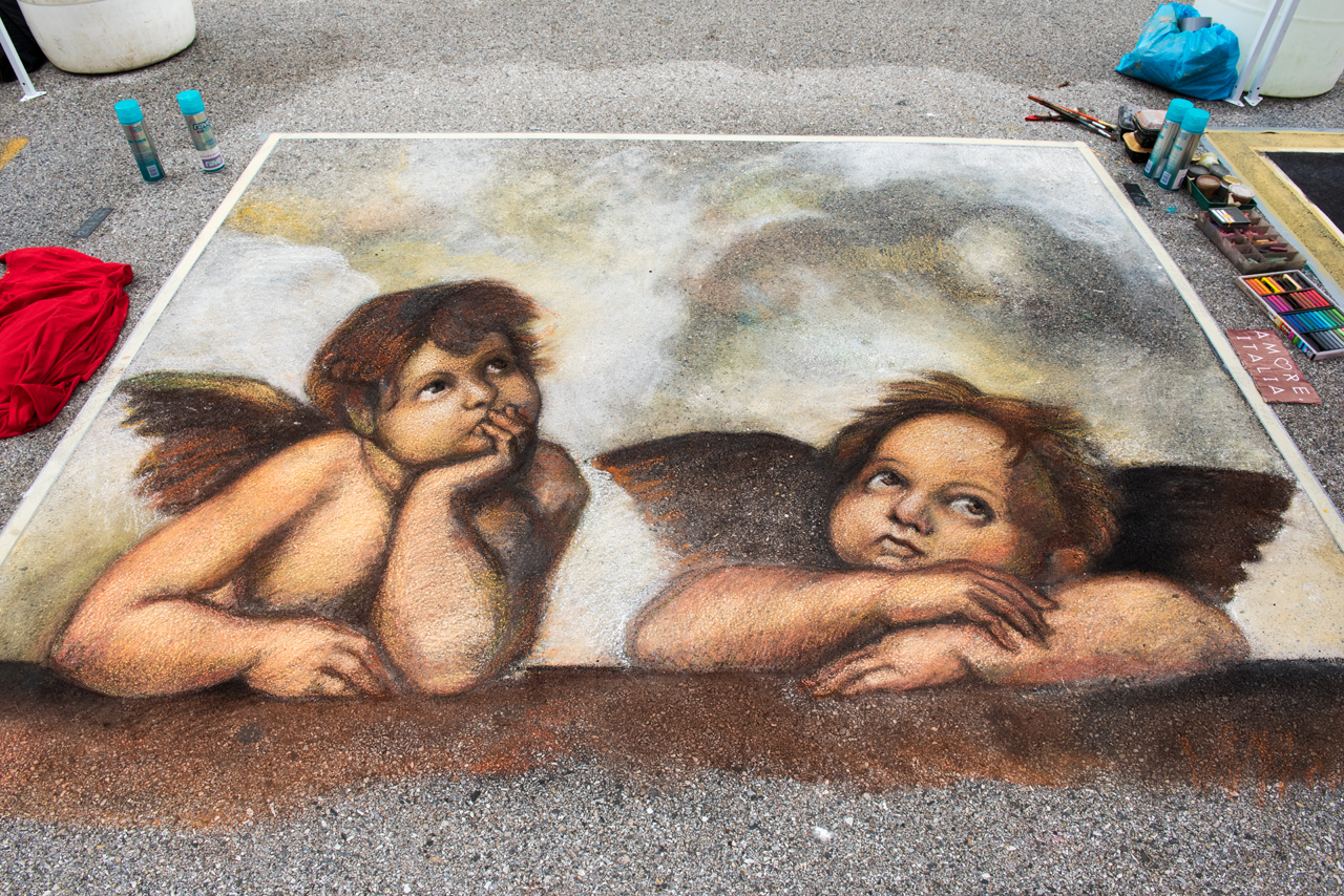 Headlining today's post ... street art by Flavio Coppola from the original by Raphael