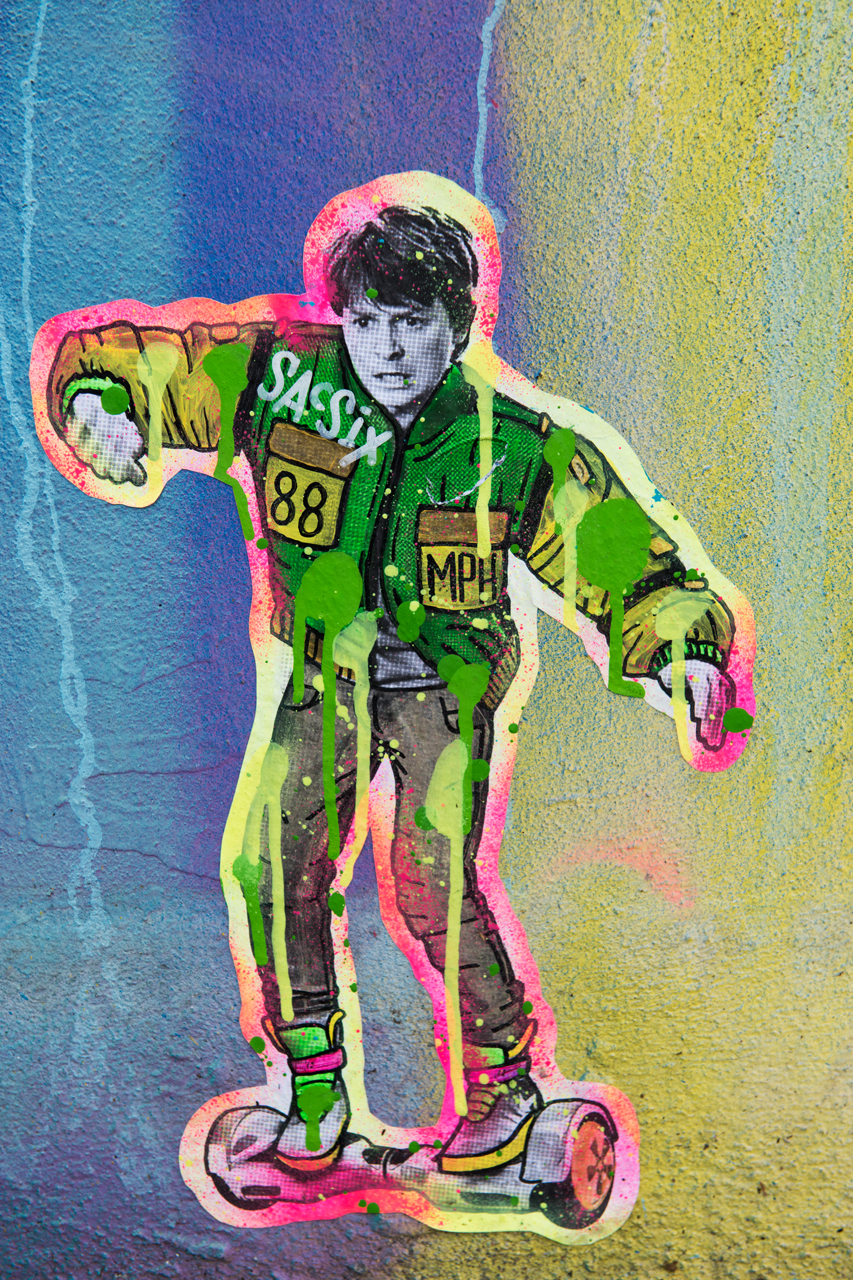 Marty McFly - wheatpaste by Sacsix