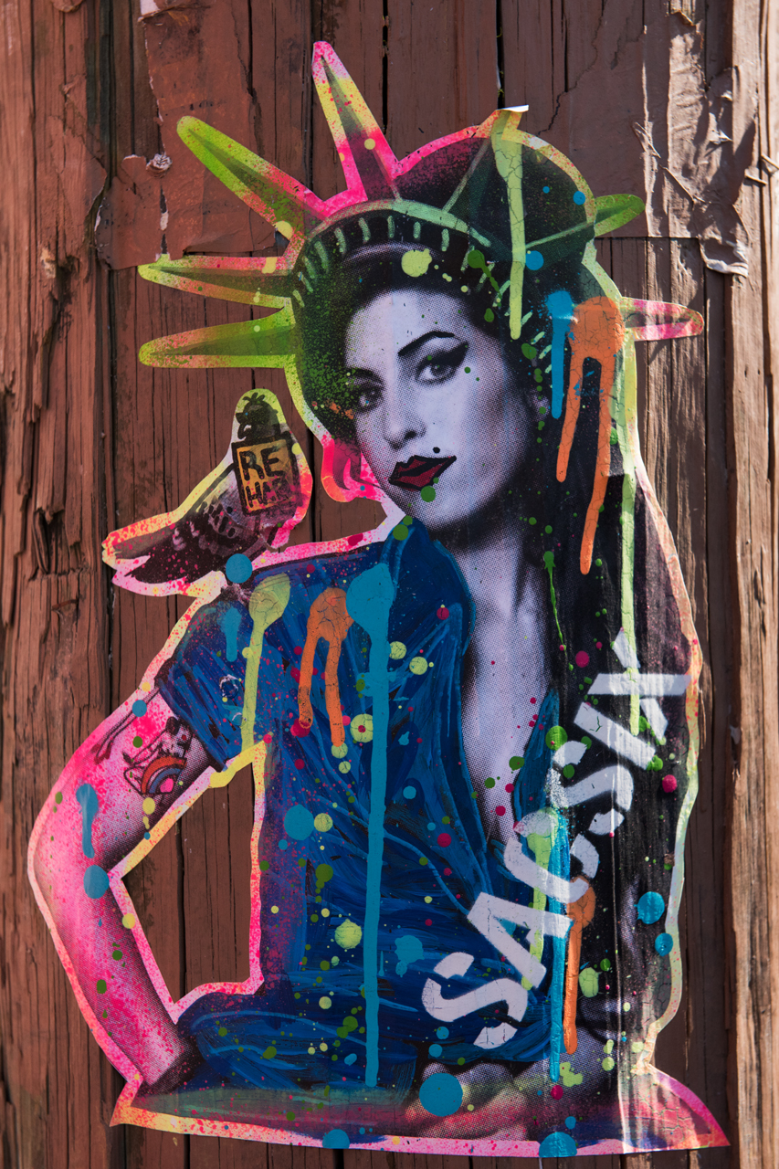 Amy Winehouse - wheatpaste by Sacsix