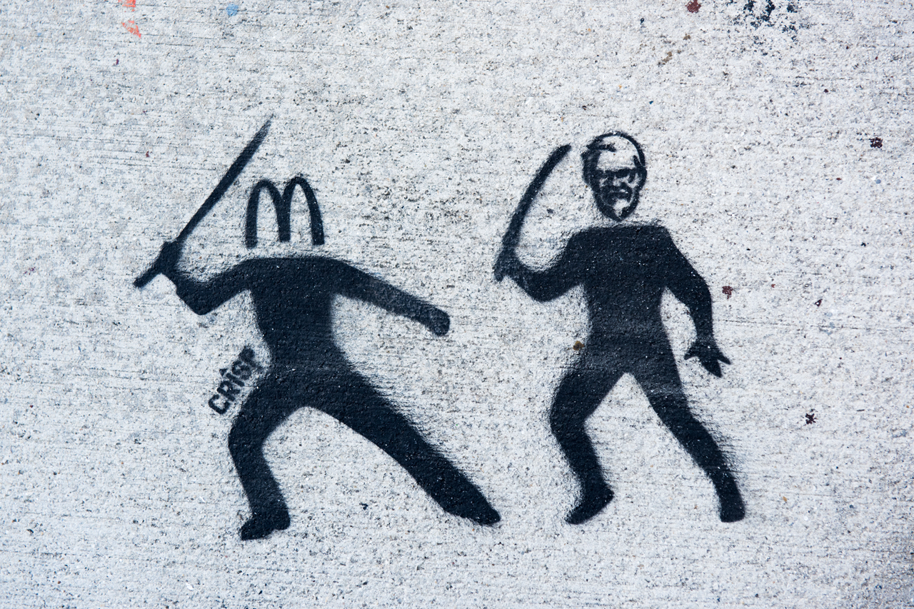 McDonalds vs. KFC - stencil by Crisp