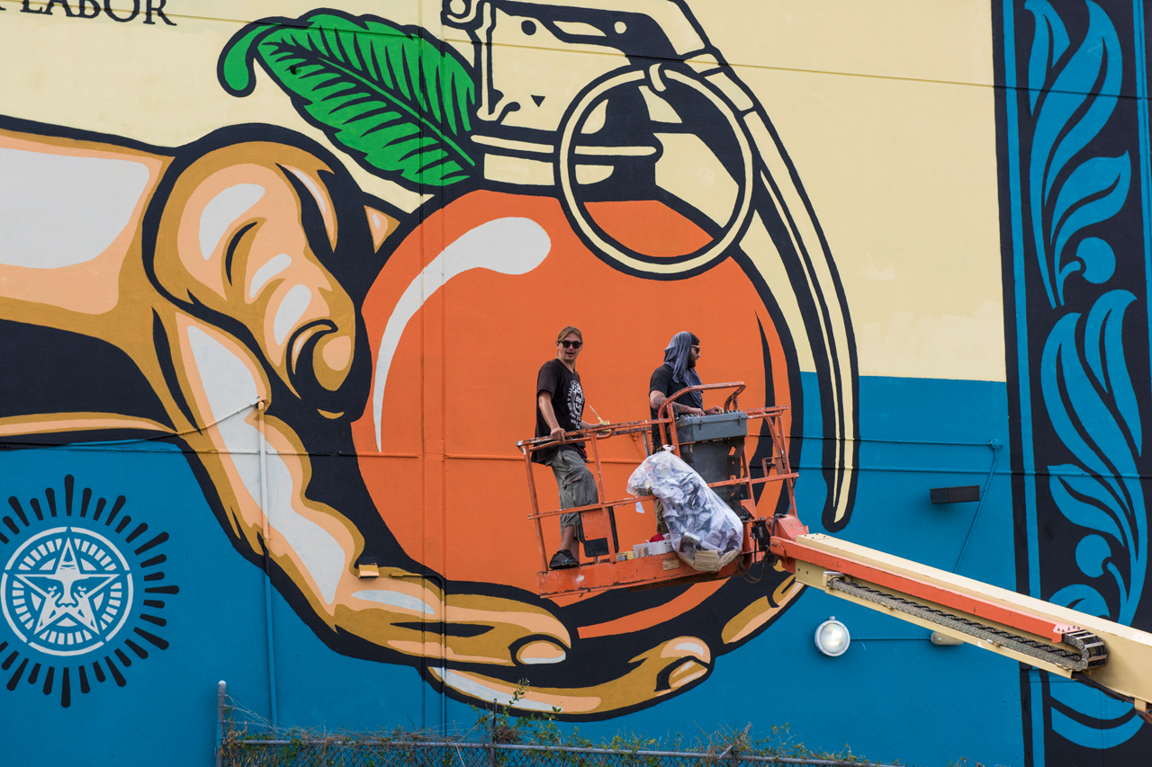Obey Giant crew wrapping up