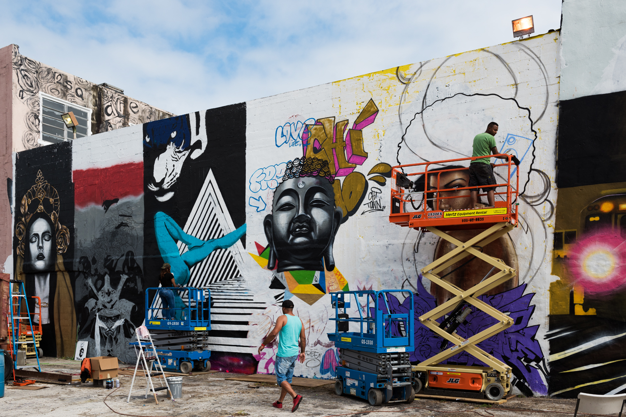 Chicago artists at work prior to the Sites and Sounds event at Art Basel 2016