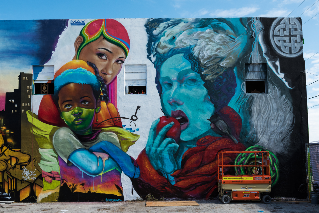 Murals by Max Sansing and Brendan Cooney