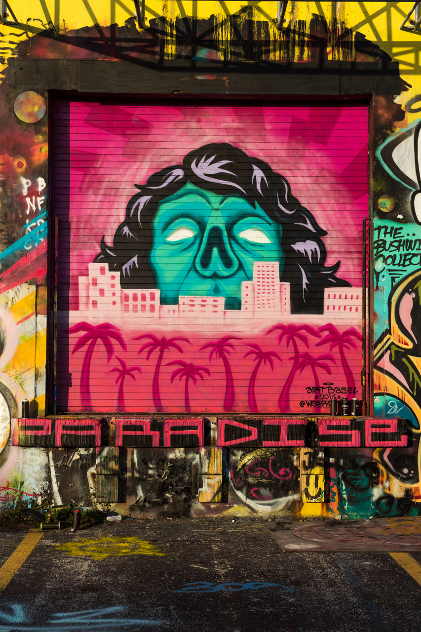 Paradise - a stunning graff piece by @weerdo1994 for Art Basel 2016