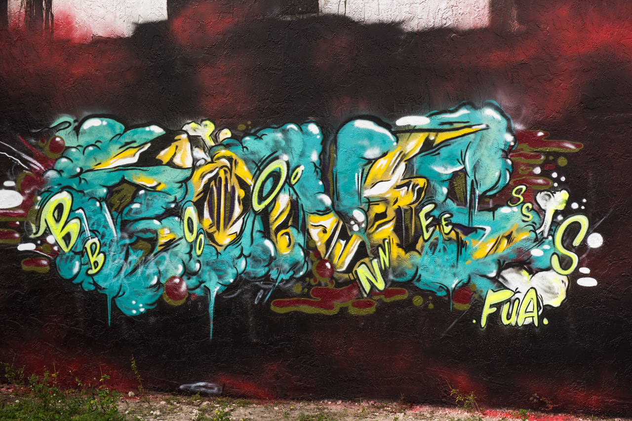 Bones tribute wall - left to right #1