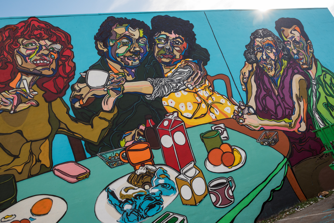 Headlining today's post ... Nanny's Kitchen, a mural by Fumeroism at Art Basel 2016