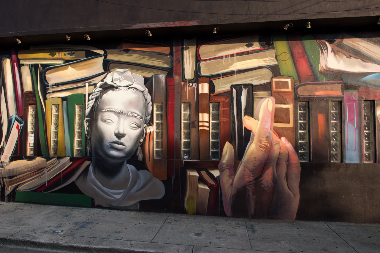 Bibliophile - mural by Case Maclaim