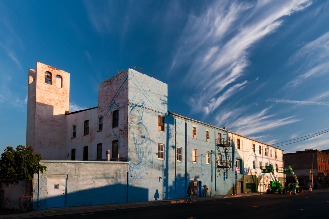 Day 2 of the Warner Street Mural project begins
