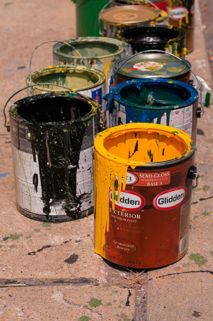 How much paint would a woodchuck - Warner Street Mural project