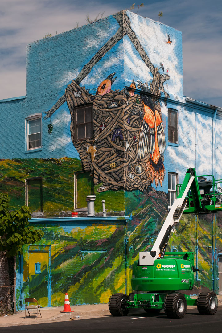 Only a few details remain - Warner Street Mural by Stefan Ways