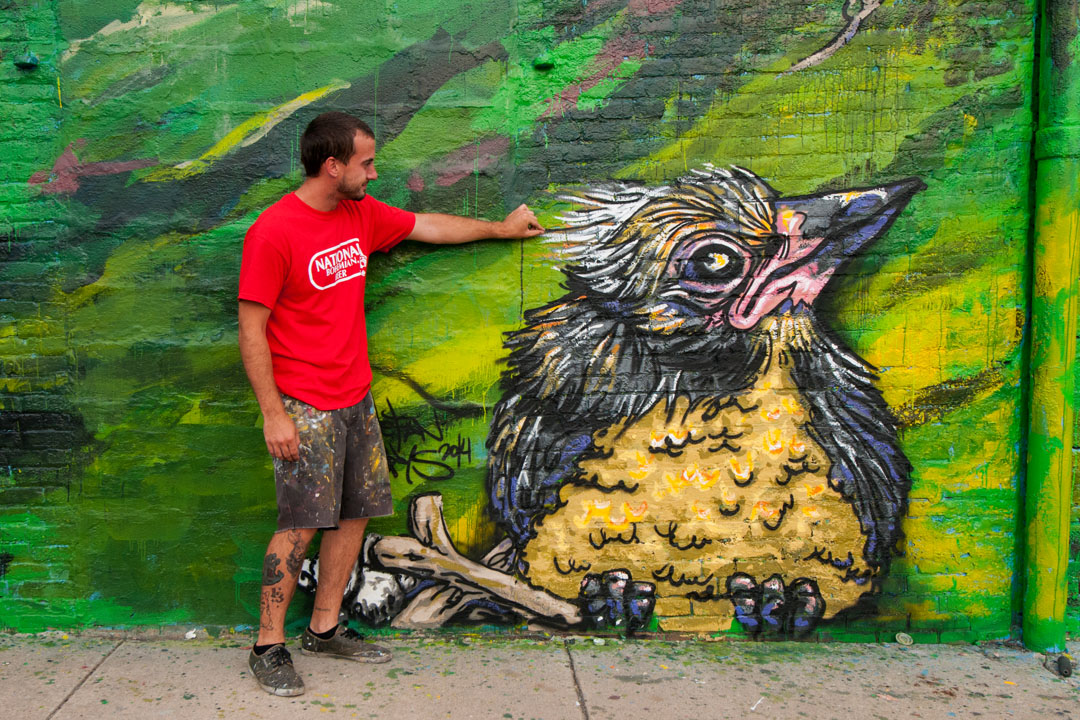 Ouch - Stefan Ways tweaks his Warner Street Mural