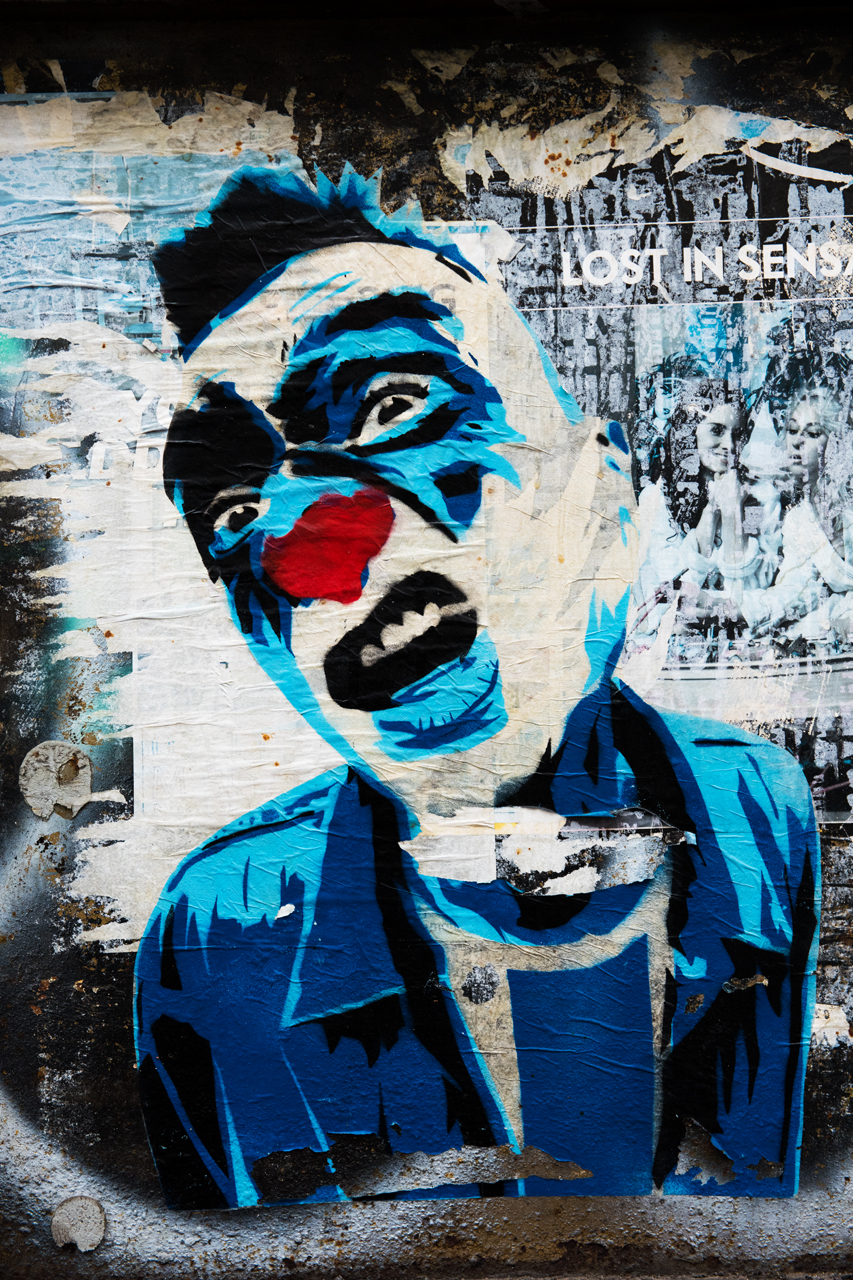 Wheatpaste by Mimi the Clown