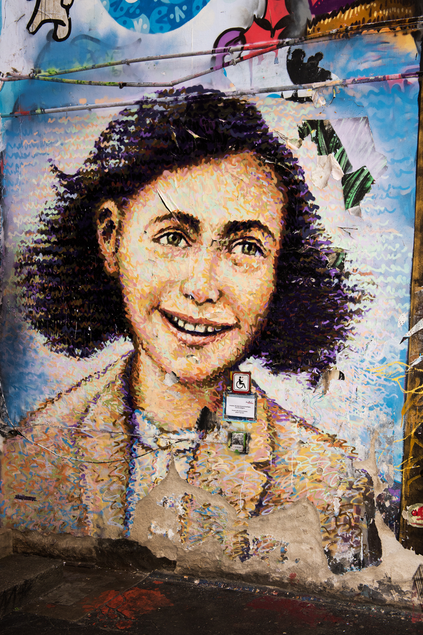 Anne Frank ... mural by Jimmy C