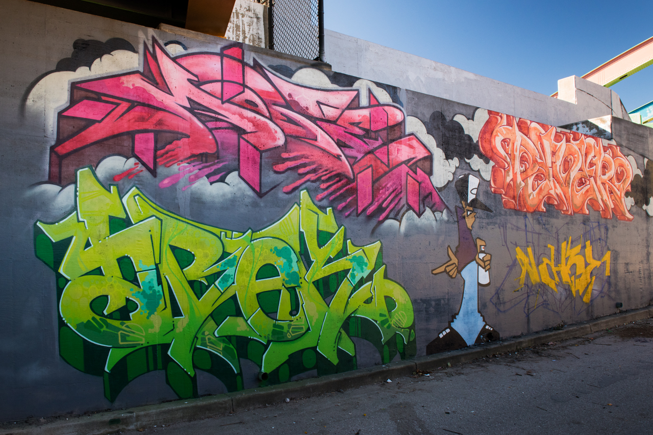 Headlining today's post ... the entrance wall to Section 1 Art Park