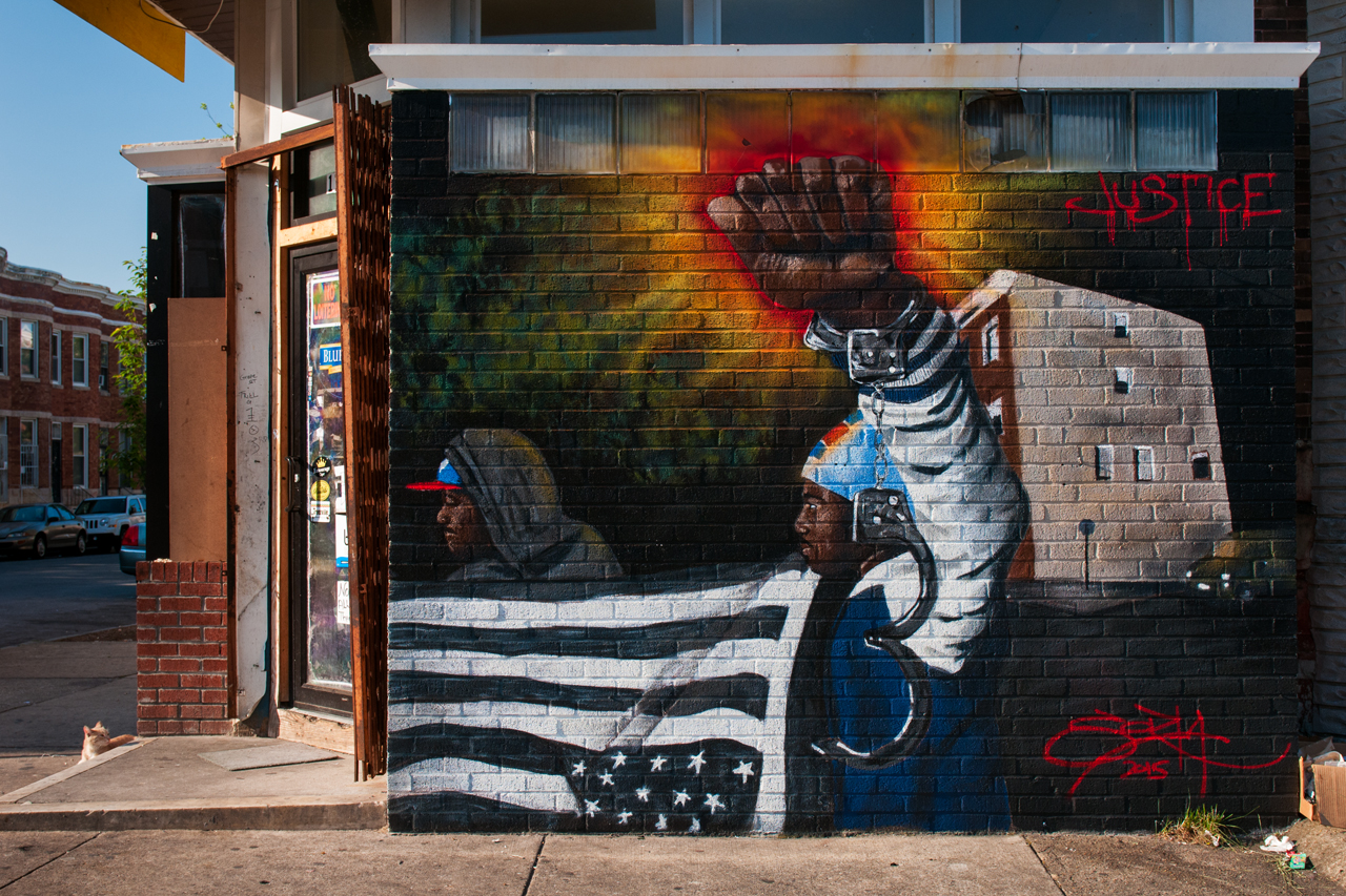 Justice by Sor Ta ... Visions: Sandtown Mural & Arts Project