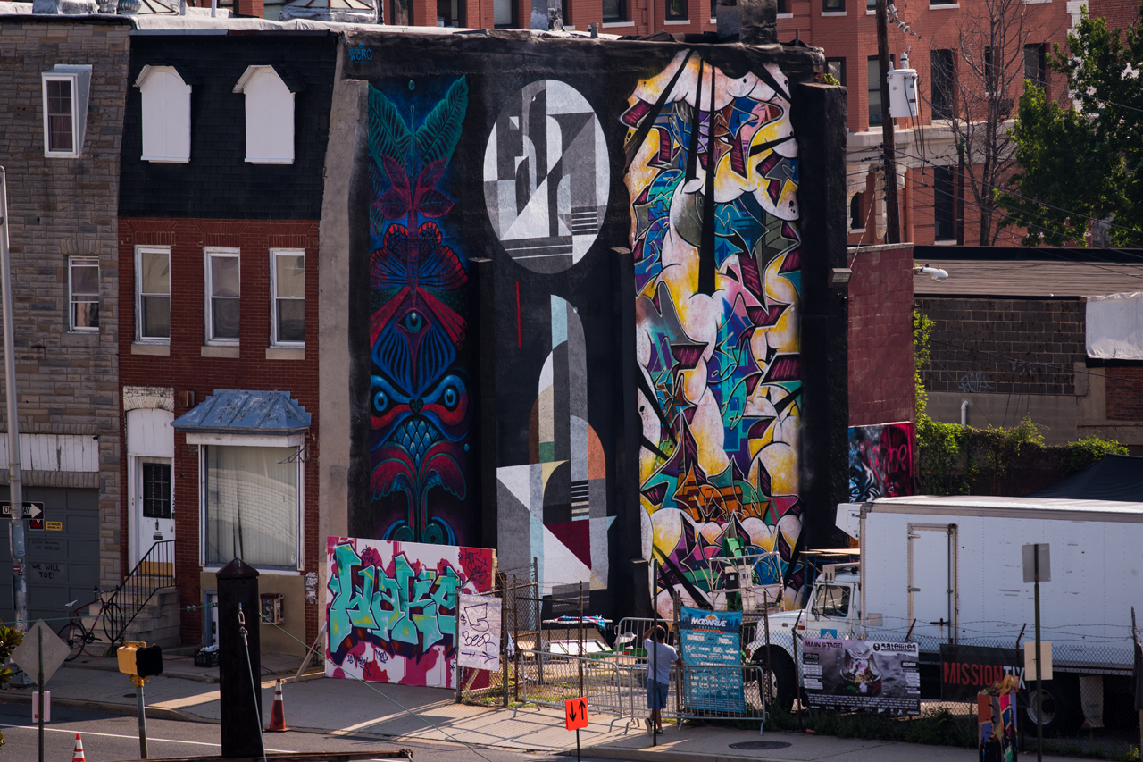 Werc, Rubin 415, Billy Mode and Wake - Section 1 Art Park during Artscape 2015