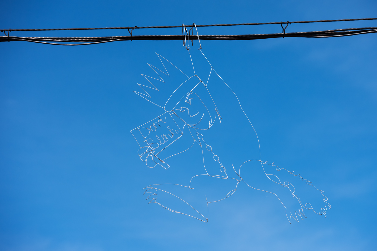 Headlining today's post … Wild Things – Don't Blink … wire sculpture by Reed Bmore