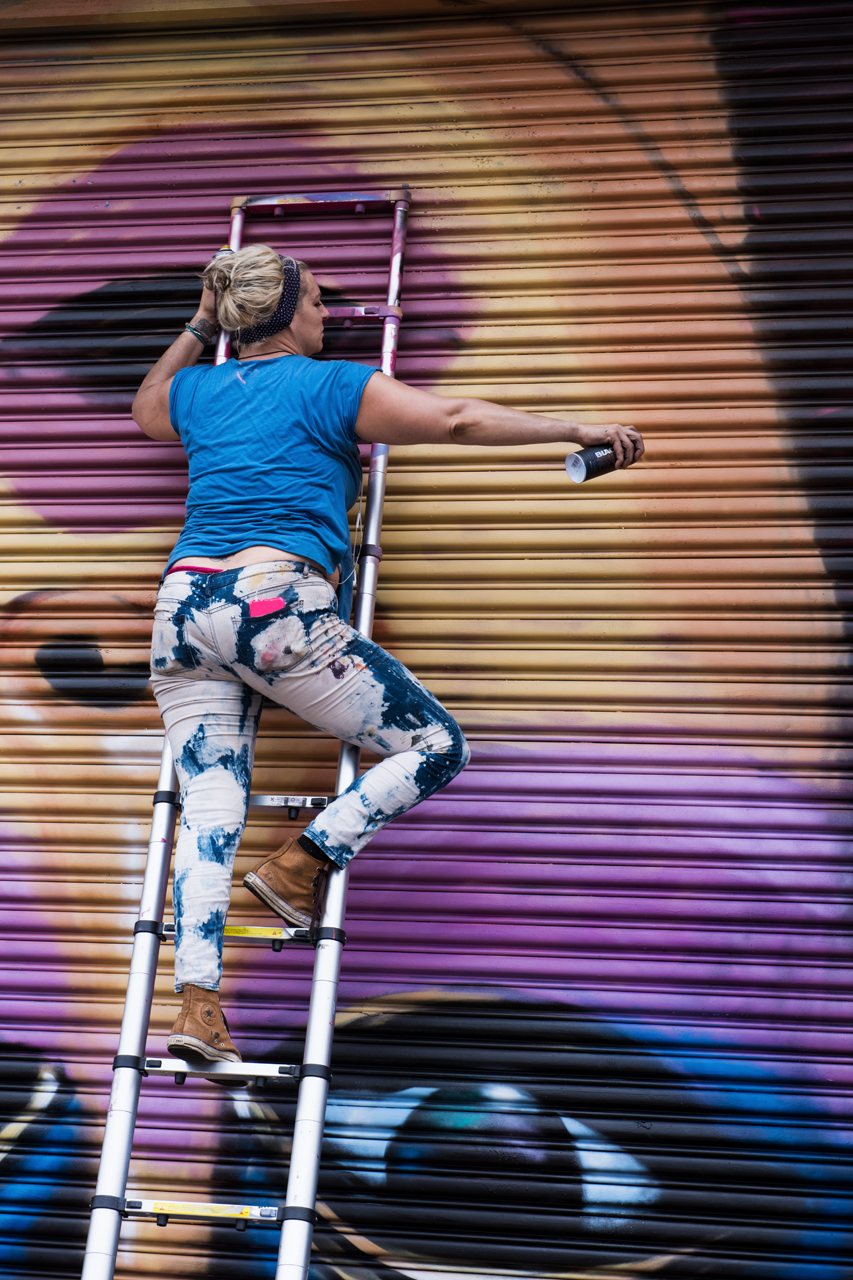 Street artists need to be part gymnast
