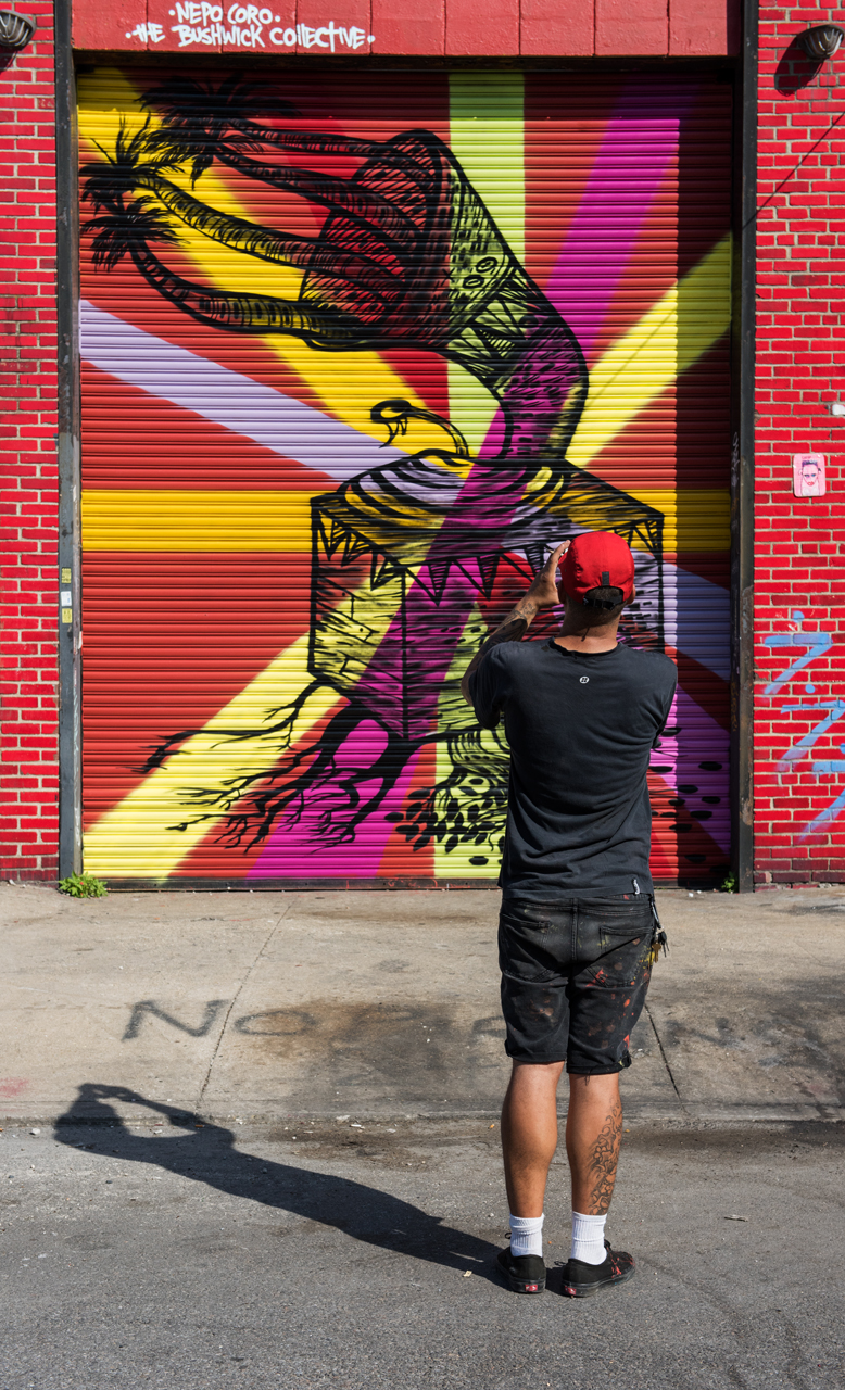 Nepo photographs his latest mural