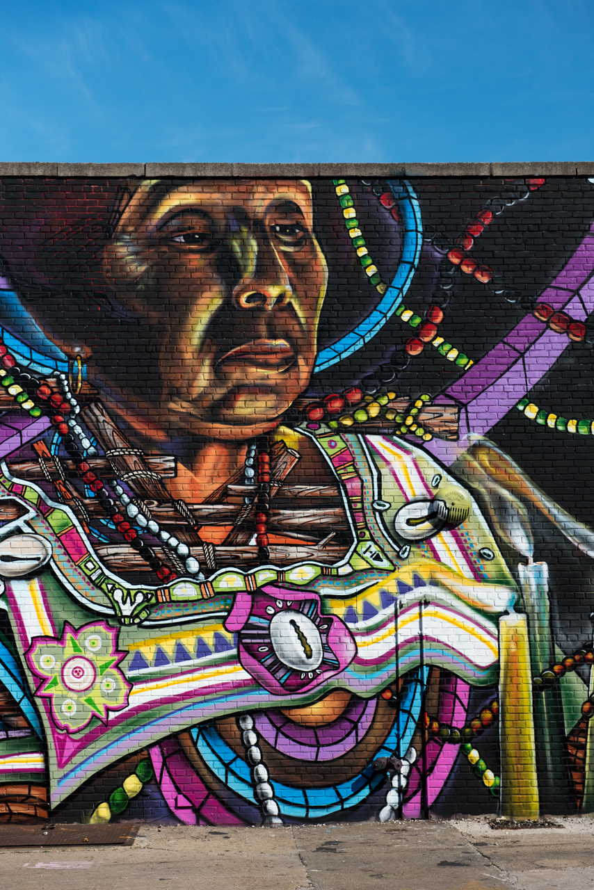 Detail from the mural by DonRimx